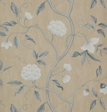 Colefax-Fowler Snow Tree Blue/Cream Behang