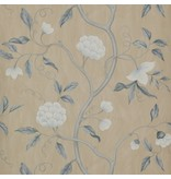 Colefax-Fowler Snow Tree Blue/Cream Wallpaper