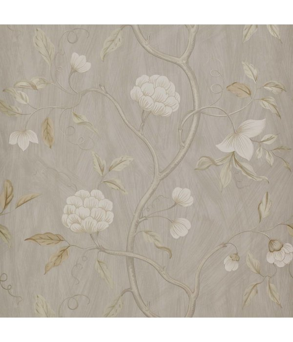 Colefax-Fowler Snow Tree Silver Wallpaper