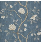 Colefax-Fowler Snow Tree Blue Wallpaper