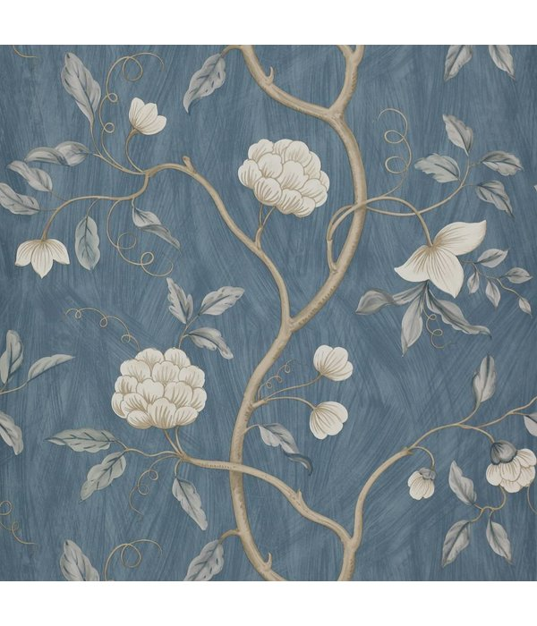 Colefax-Fowler Snow Tree Blue Behang