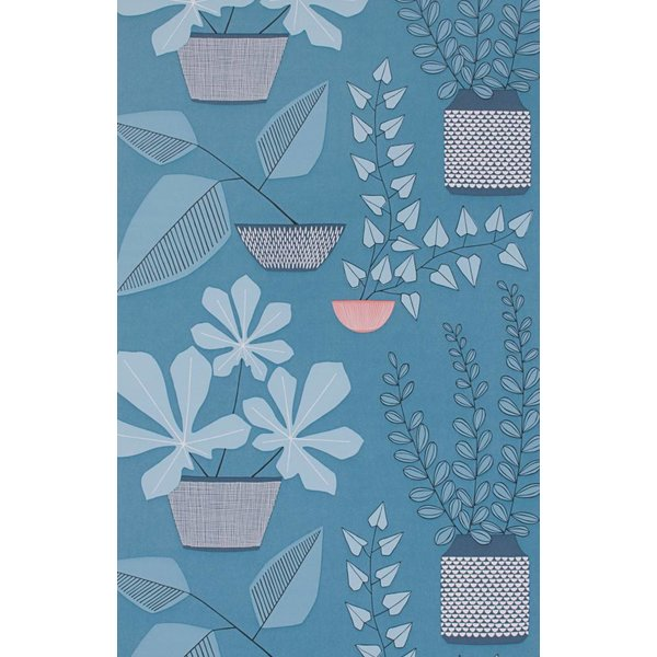 House Plants Wallpaper Blue Room MISP1175