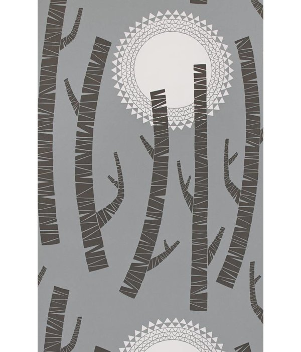 Miss-Print Woods Wallpaper Twilight MISP1153