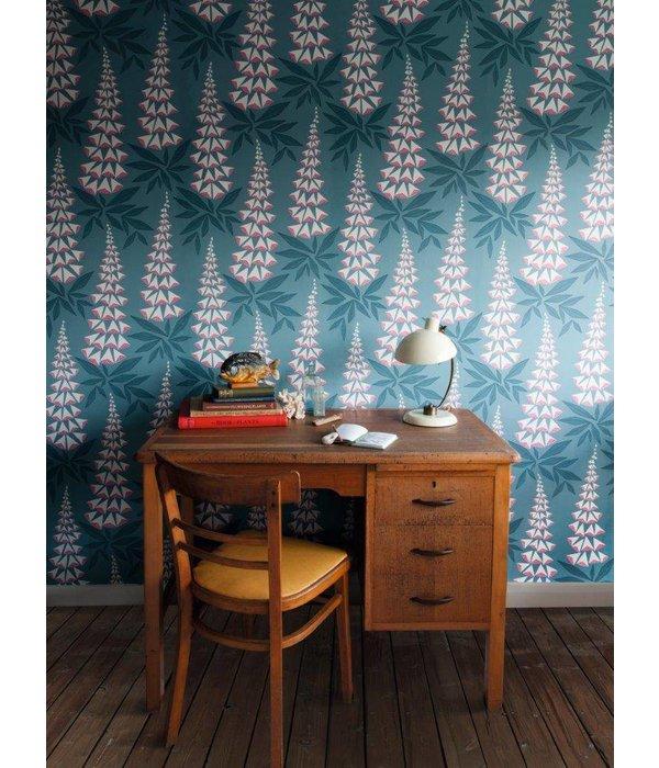 Miss-Print Foxglove Wallpaper Quince MISP1146