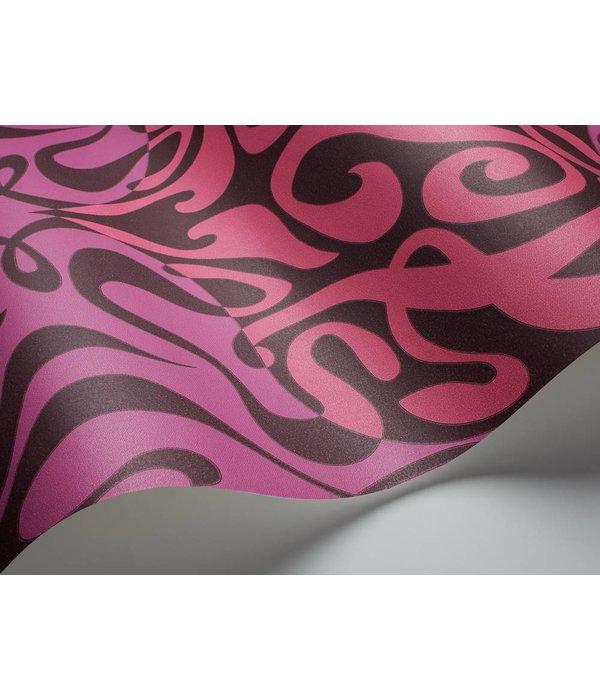 Cole-Son Woodstock Zwart, Roze En Paars 69/7125 Behang