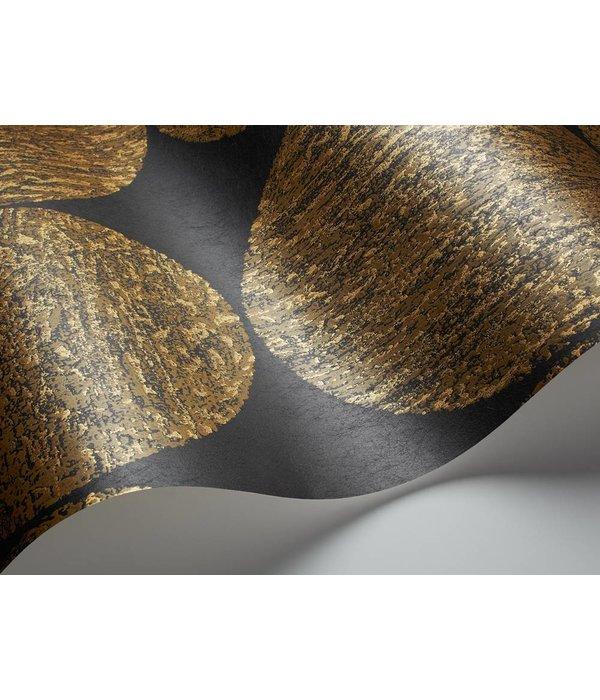 Luna zwart met glans bruin en goud 69 5119 de mooiste muren - Behang zwart en goud ...