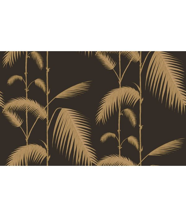 Cole-Son Palm Leaves Zwart En Goud 66/2014 Wallpaper