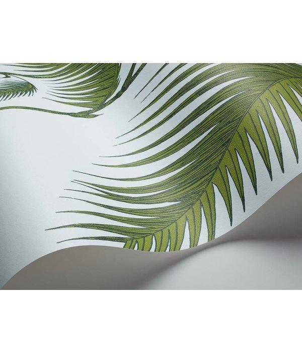 Cole-Son Palm Leaves Lichtblauw En Groen 66/2010 Behang