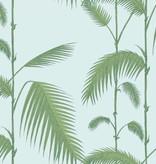 Cole-Son Palm Leaves Lichtblauw En Groen 66/2010 Wallpaper