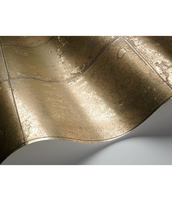 Cole-Son Antique Mirror Metallic Goud En Zwart 92/2010 Wallpaper
