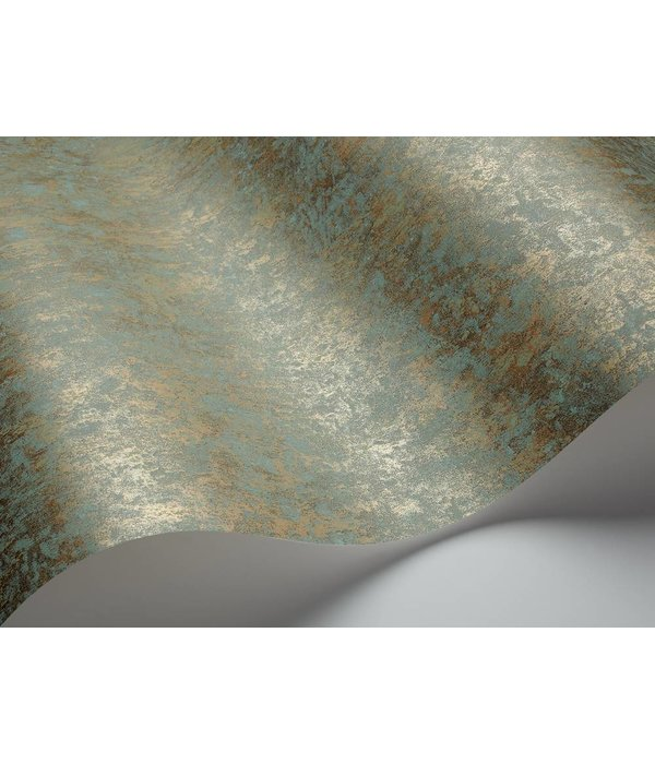 Cole-Son Salvage Blauw En Metallic Goud 92/11053 Behang