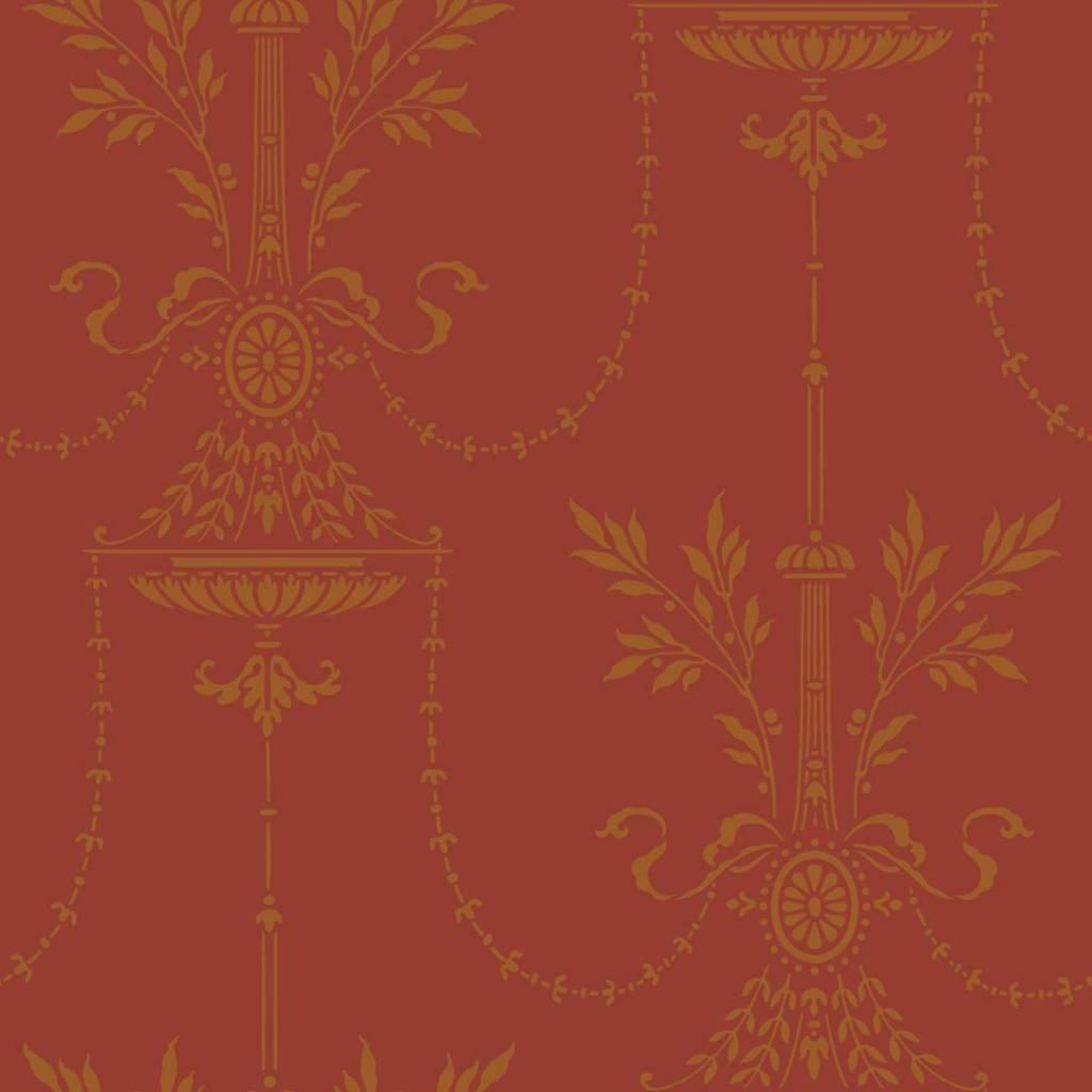 Dorset rood en goud 88 7029 de mooiste muren - Behang zwart en goud ...