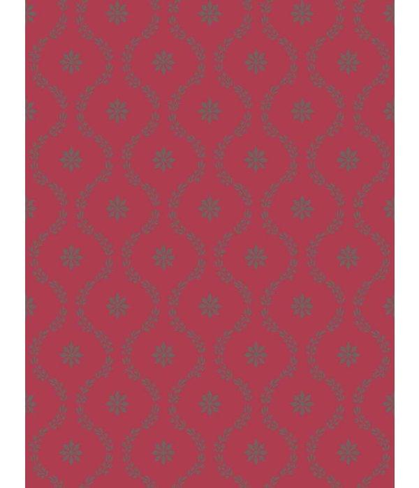 Cole-Son CLANDON Rood En Zilver 88/3015 Wallpaper