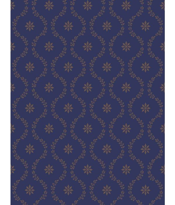 Cole-Son CLANDON Donkerblauw En Goud 88/3011 Behang