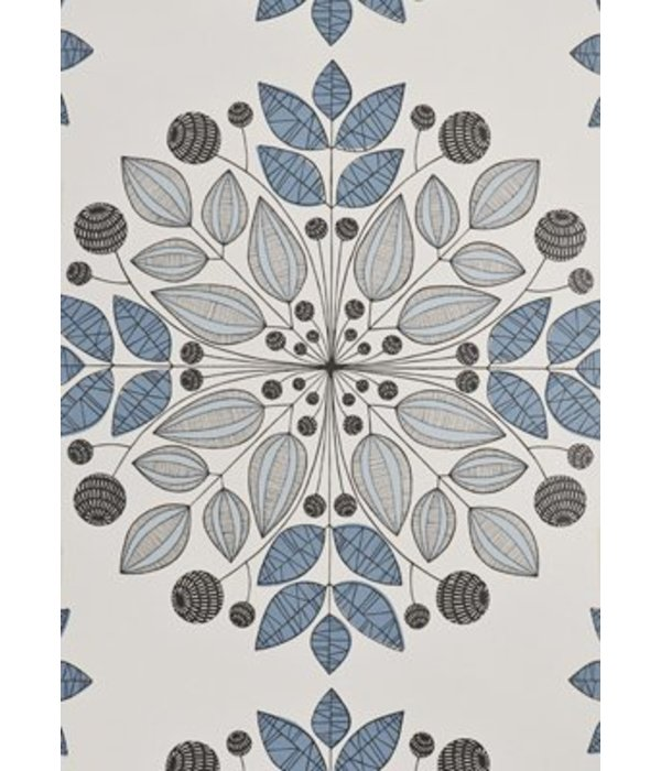 Miss-Print Kaleidoscope Wallpaper Blues MISP1091 Wallpaper