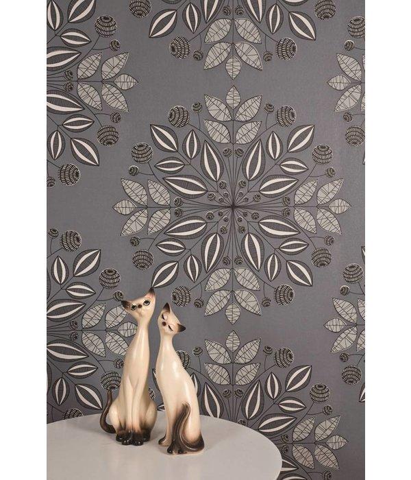 Miss-Print Kaleidoscope Wallpaper Ash MISP1093 Behang