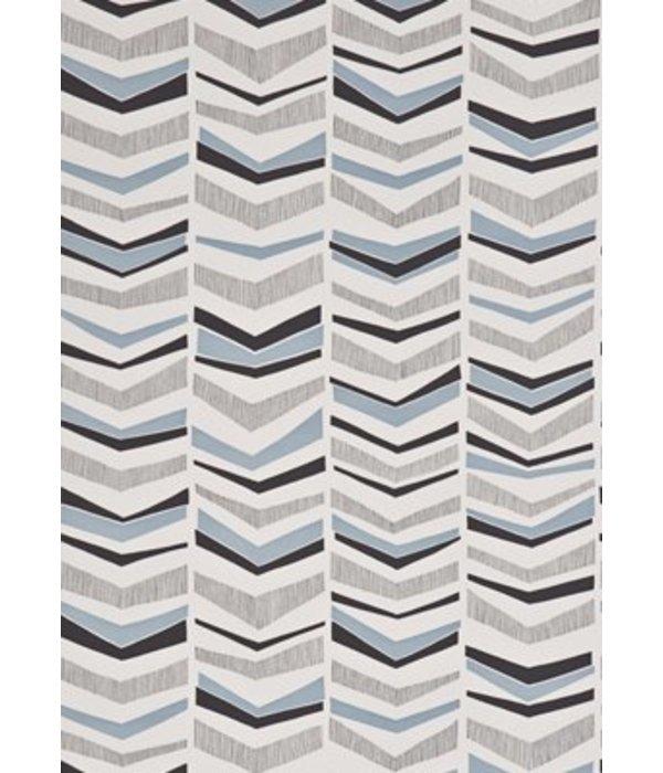 Miss-Print Chevron Wallpaper Bluebird MISP1103 Wallpaper