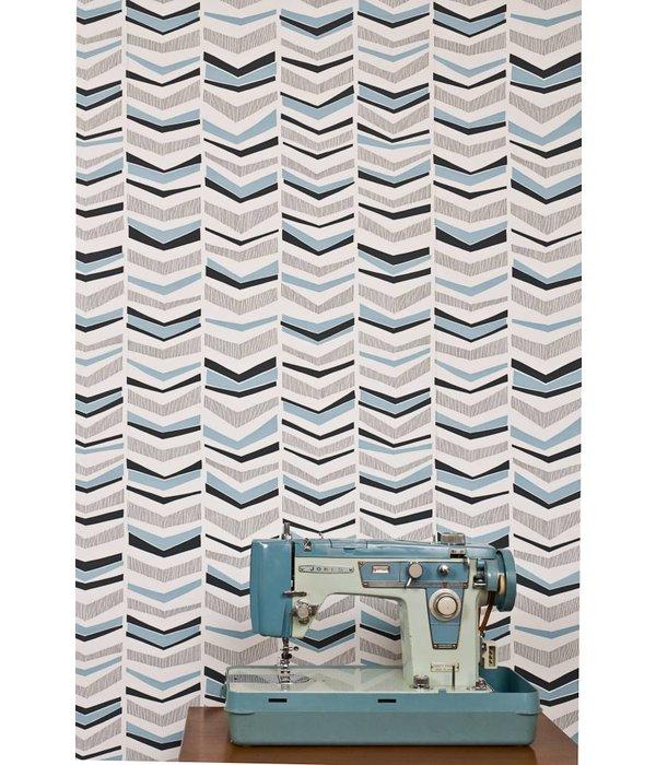 Miss-Print Chevron Wallpaper Berry MISP1104 Wallpaper
