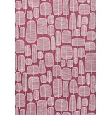 Miss-Print Little Trees Wallpaper Fuchsia MISP1113