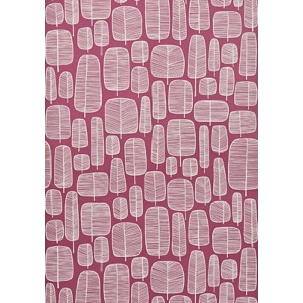 Little Trees Wallpaper Fuchsia MISP1113