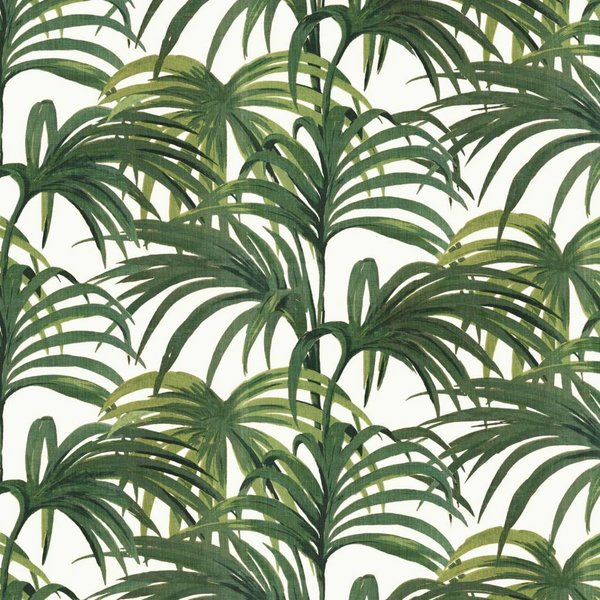 PALMERAL WALLPAPER OFF WHITE / GREEN H402-4