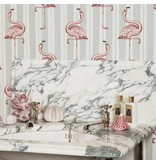 House-of-Hackney FLAMBOYANCE WALLPAPER OFF WHITE / LAVENDER H2614-3