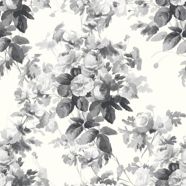 LONDON ROSE WALLPAPER SMOKE GREY H320-3