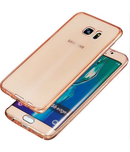 Samsung Galaxy S6 Full protection siliconen roze transparant voor 100% bescherming