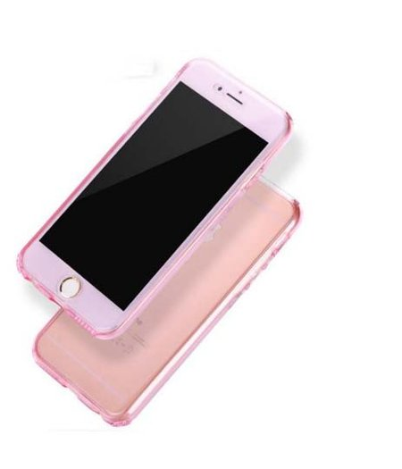 Apple iPhone 6 Full protection siliconen roze transparant voor 100% bescherming