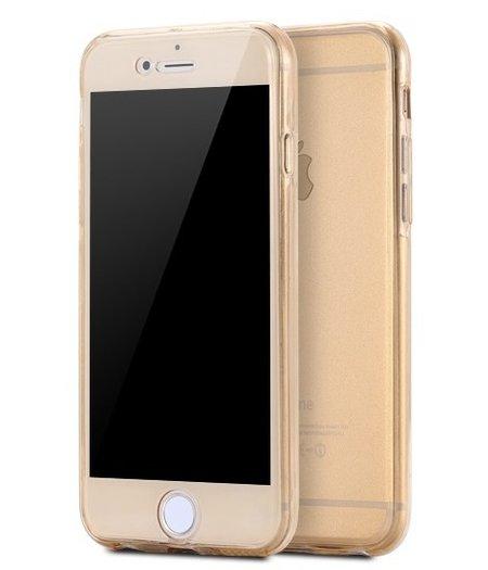 HEM iPhone 6 plus Full protection siliconen goud transparant voor 100% bescherming