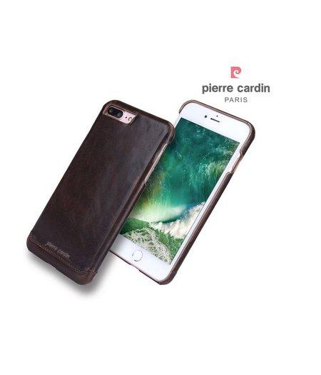 Pierre Cardin Donker bruin lederen hoesje Apple iPhone 7 Plus met originele hoesjesweb stylus