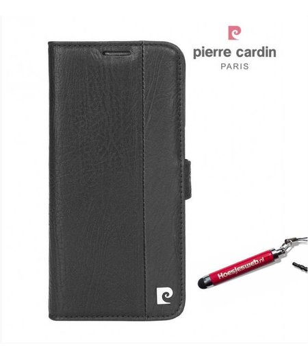 Pierre Cardin Zwart Boek / Pasjes hoesje Apple iPhone 7 Plus met originele hoesjesweb stylus