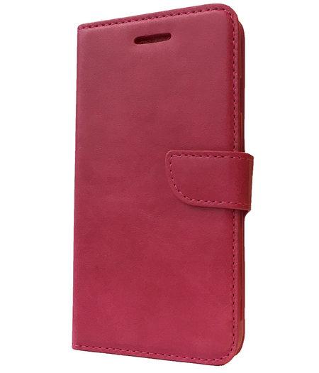 HEM Roze boekje voor HTC One M8 vakje voor pasjes, geld en fotovakje