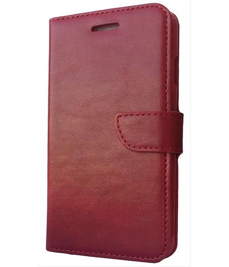 HEM Rood boekje voor HTC One M8 met vakje voor pasjes, geld en fotovakje