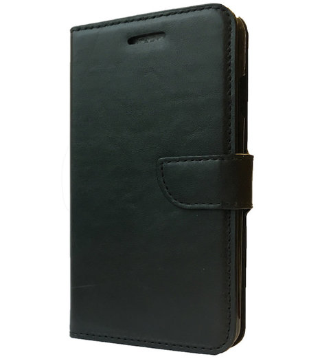 HEM Zwart boekje voor LG L70 D320N met vakje voor pasjes, geld en fotovakje
