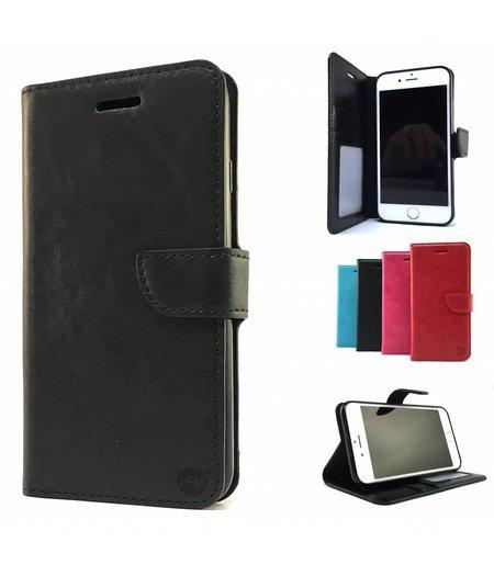 HEM Zwarte Wallet / Book Case / Boekhoesje/ Telefoonhoesje / Hoesje Samsung Galaxy A5 (2017) SM-A520 met vakje voor pasjes, geld en fotovakje