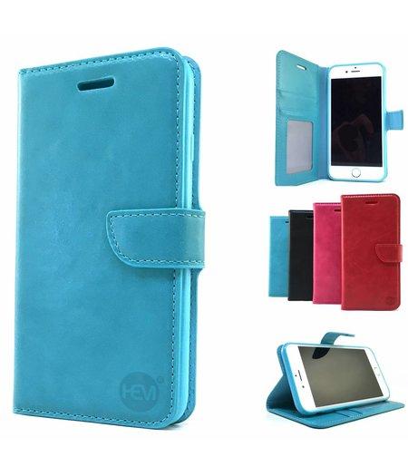 HEM Aquablauwe Wallet / Book Case / Boekhoesje/ Telefoonhoesje / Hoesje iPhone 6 plus met vakje voor pasjes, geld en fotovakje