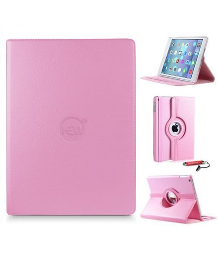 HEM iPad Air 1 hoes HEM licht roze met roze mini stylus / hoesjes Apple iPad Air 1 roze / hoes iPad lichtroze