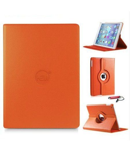 HEM iPad Air 1 hoes HEM oranje met gouden stylus / hoesjes Apple iPad Air 1 oranje/ hoes iPad oranje