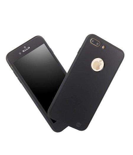 HEM Full Body Cover Case Zwart 360 graden Iphone 7 Plus Zwart / Inclusief handige uitschuifbare Hoesjesweb Stylus Pen