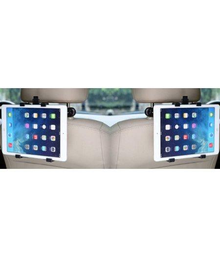 HEM SET van 2 Stevige Universele iPad/Tablet houders auto (type 7 tot 12 inch) hoofdsteun houders inclusief 2 uitschuifbare Hoesjesweb Stylus Pennen, Hoesjes apple iPad