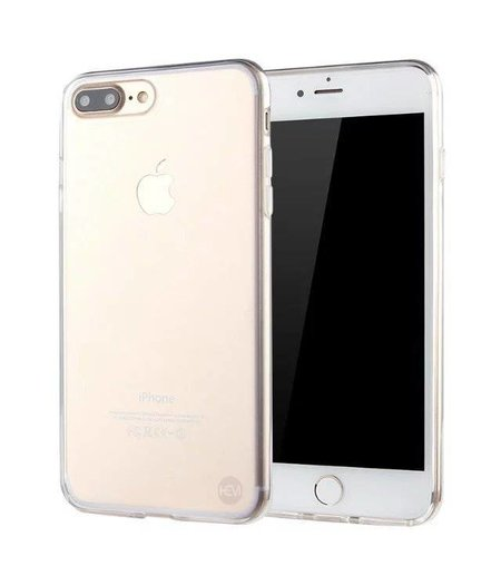 HEM iPhone 8 transparant siliconenhoesje transparant siliconenhoesje / Siliconen Gel TPU / Back Cover / Hoesje Iphone 8 transparant doorzichtig