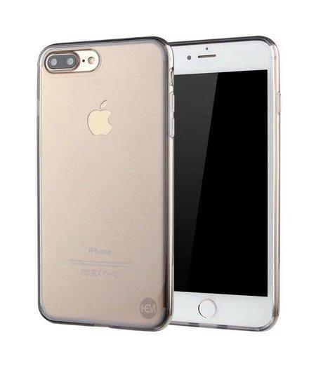 HEM iPhone 8 Plus zwart siliconenhoesje transparant siliconenhoesje / Siliconen Gel TPU / Back Cover / Hoesje Iphone 8 Plus zwart doorzichtig