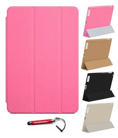 HEM iPad Air 2  Smart Cover roze / Vouw hoesjes Apple iPad Air 2 / Vouw hoesje iPad Air  2  / Inclusief handige uitschuifbare Hoesjesweb Stylus Pen
