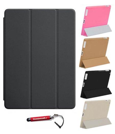 HEM iPad Air 2  Smart Cover zwart / Vouw hoesjes Apple iPad Air 2 / Vouw hoesje iPad Air 2  / Inclusief handige uitschuifbare Hoesjesweb Stylus Pen