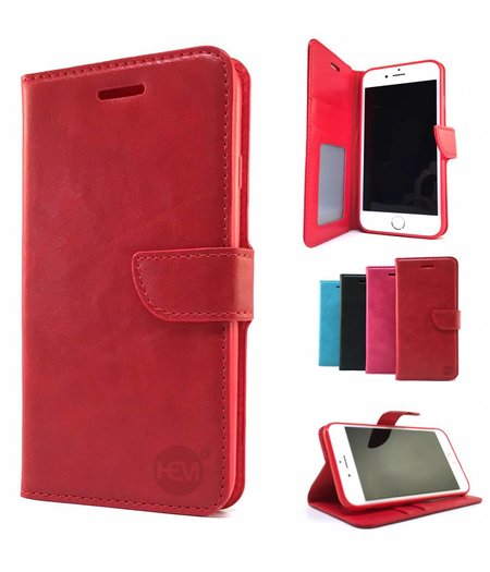 HEM Samsung A5 / A8 2018 Rode Wallet / Book Case / Boekhoesje / Telefoonhoesje / Hoesje vakje voor pasjes en geld