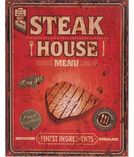 HOC Wandbord retro  / Muurplaat Vintage / Reclamebord  Steak House