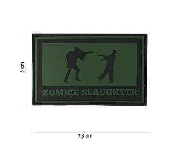 101Inc. PVC Patch  Zombie Slaughter Groen