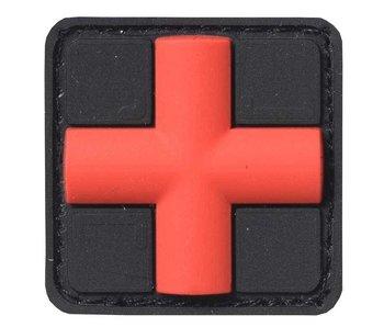 JTG PVC Patch Red Cross Black Medic patch
