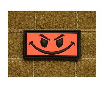 JTG PVC Patch Evil Smiley RED patch